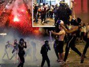 Violente de strada dupa castigarea Cupei Mondiale de către Franta