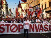 Matteo Salvini in fruntea unui protest impotriva imigratiei