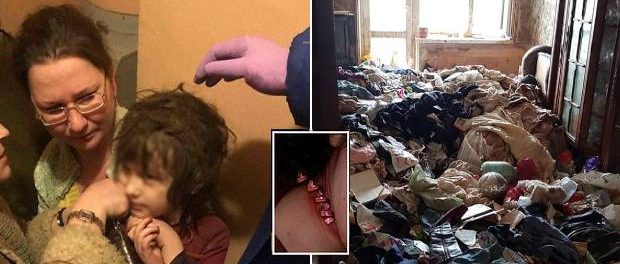 Fetița Mowgli salvată dintr-un apartament din Moscova