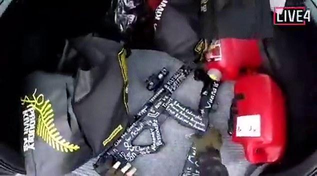 Pușca semi-automată cu care a declanșat atacul