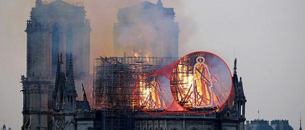 Figura lui Iisus Hristos apare în flăcările de la Notre Dame