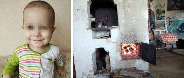 Un băiețel luptă pentru viață după ce bunicul său mort de beat l-a aruncat în sobă