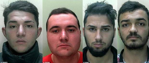 Cinci romani care au violat o adolescenta in Anglia condamnati la 10 ani inchisoare