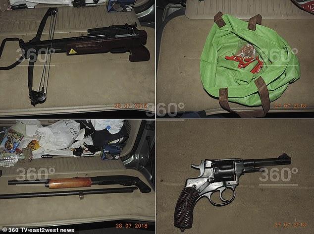 Armele găsite în mașina mafiotului înjunghiat