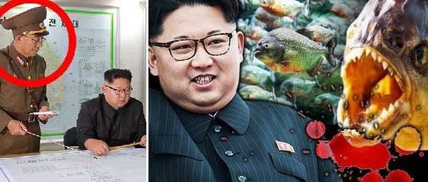 Kim Jong-un a executat un general aruncându-l într-un acvariu cu pirahna