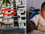 Un copil a murit după ce a fost aruncat de tatăl său de pe balconul situat la etajul cinci