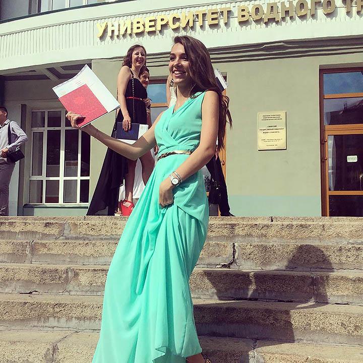 Masha la absolvirea facultatii