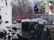 19 persoane au murit după ce un autobuz a căzut într-un râu înghețat în Rusia