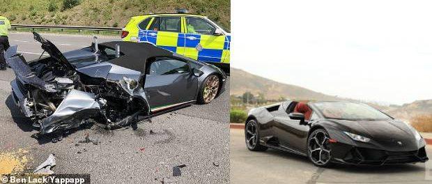 Lamborghini în valoare de 220000 de € făcut praf la 20 de minute după ce a fost cumpărat