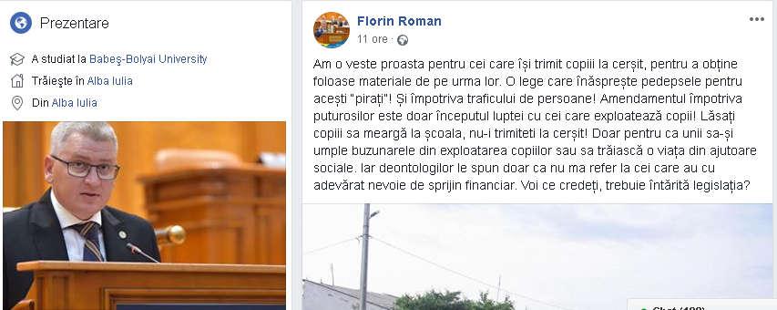 Florin Roman afirmatii rasiste