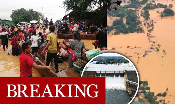 Un baraj din Laos s-a fisurat