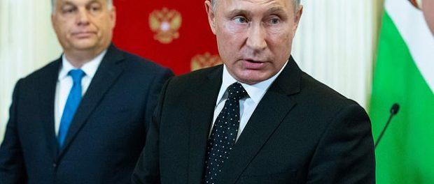 Vladimir Putin și Viktor Orban intr-o conferinta de presa la Kremlin
