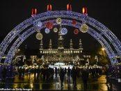 Anul Nou sărbătorit în fața primăriei din Viena