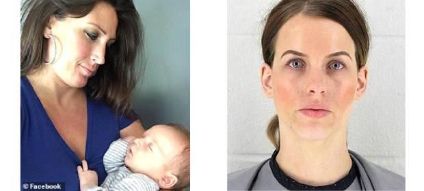 Kingston Gilbert cu mama sa (stânga) și Paige Hatfield (dreapta) femeia care l-a bătut cu sălbăticie
