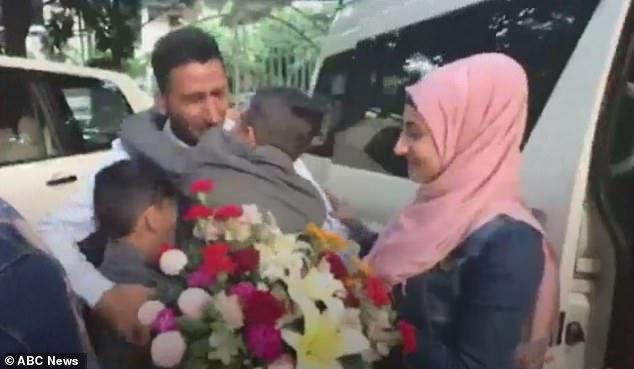 Abdullah Zalghani reunit cu familia în 2013