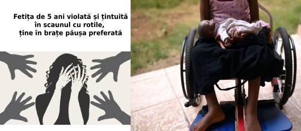 Fetiță paralizată după ce a fost violată de o rudă apropiată