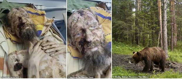 Un bărbat a fost salvat în mod miraculos din bârlogul unui urs