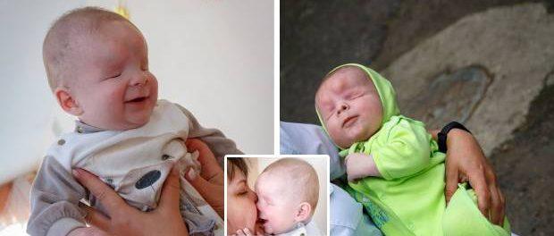 Un băiețel născut fără globii oculari așteptă să fie adoptat de o familie iubitoare
