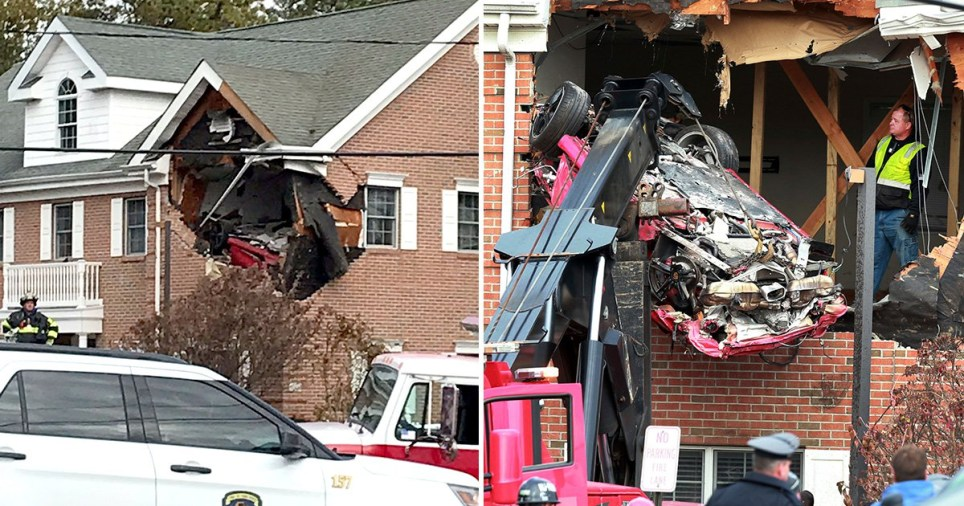 Un Porsche catapultat la etajul unu al unei case a ucis doi oameni