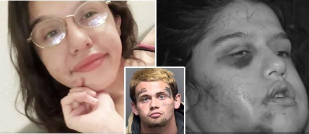 A bătut-o, i-a rupt maxilarul și i-a scrijelit numele cu cuțitul pe frunte