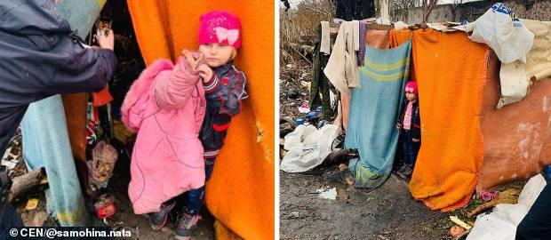 O fetiță găsită într-un cort improvizat la o groapă de gunoi a fost salvată de Anul Nou