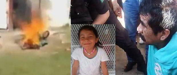 O mulțime furioasă a ARS DE VIU UN PEDOFIL acuzat că a violat și ucis o fetiță ă de șase ani
