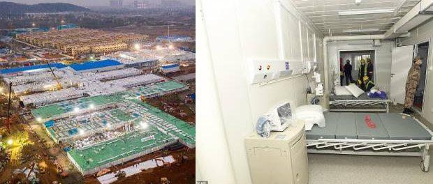 Spitalul din Wuhan cu 1000 de paturi construit în doar opt zile