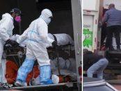 În jur de 100 de cadavre în descompunere găsite în camioane fără refrigerare