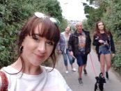 Beth Palmer împreună cu famila la plimbare