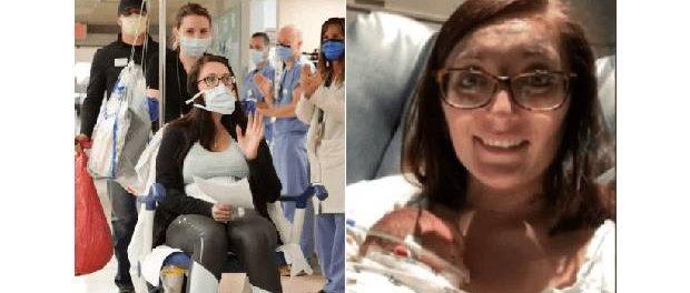 Tânăra care a învins Covid-19 și a născut un fiu în timp ce era intubată