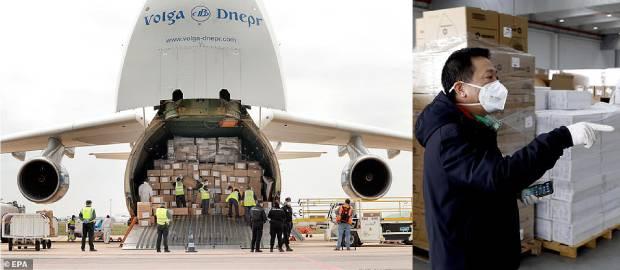 Transport de echipamente medicale din China către UE