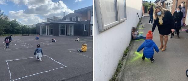Imagini sfâșietoare cu copiii din școli obligați să se joace izolați la școală