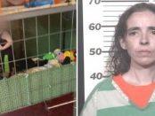 Mama care își ținea copilul într-o cușcă de câini a fost arestată